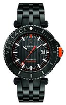 Versace Men's 'V-Race' Automatic Stainless Steel Casual Watch, Color:Black (Model: VAL010016)