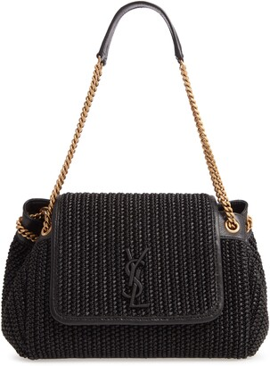 Saint Laurent Small Nolita Raffia Shoulder Bag
