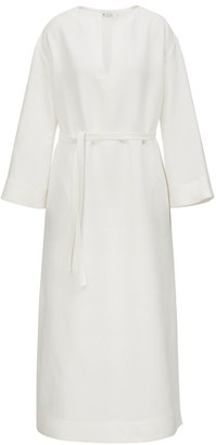 Loro Piana Leona Antigua Belted Sheath Dress