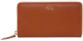 Tula Nappa Originals Leather Large Zip Around Purse, Tan