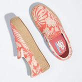 Vans Floral Linen Slip-On Platform Espadrille SF