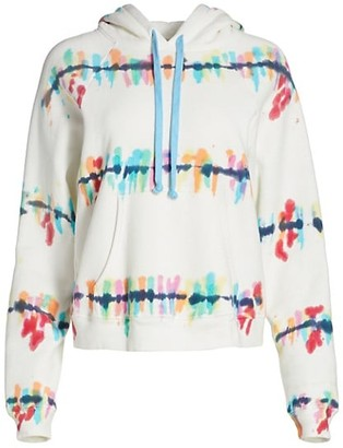 Warm Rainbow Paint Splatter Drawstring Hoodie