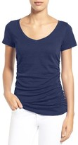 Women's Caslon Shirred V-Neck Tee