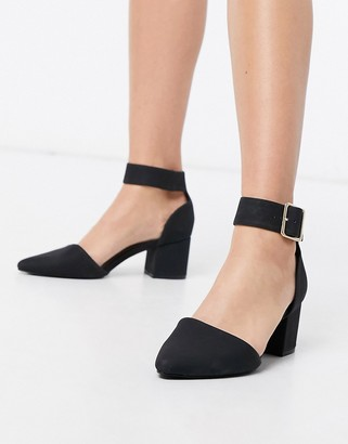 Call it SPRING agraleria block mid heel shoes in black