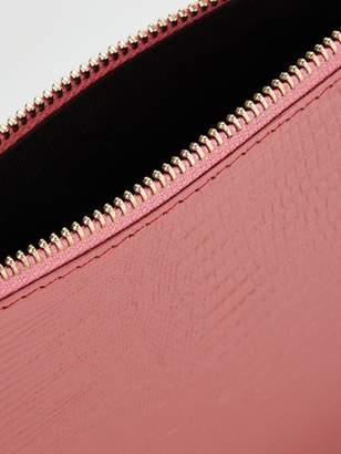 Whistles Small Leather Clutch Bag - Pink