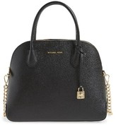 MICHAEL Michael Kors Michael By Michael Kors Large Mercer Leather Dome Satchel - Black
