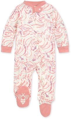 Burt's Bees Swirly Twigs Organic Baby Zip Front Loose Fit Pajamas