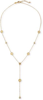Roberto Coin Barocco Braid 18k Diamond Y-Drop Necklace
