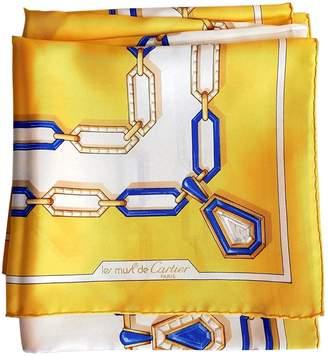 Cartier Yellow Silk Silk handkerchief