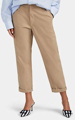 BEIGE CQY Women's Miller Cotton Twill Trousers - Beige, Khaki