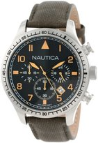 Nautica Unisex N16579G BFD 105 Stainless Steel Watch with Olive Green Band