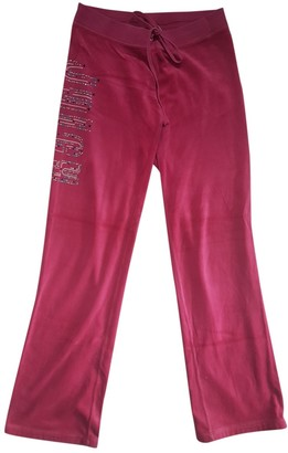 Juicy Couture Pink Velvet Trousers for Women