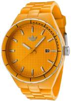 adidas ADH2100 Cambridge Orange Plastic Bracelet with 44mm Analog Watch NIB