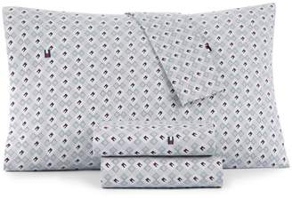 Tommy Hilfiger Flag and Dots Sheet Set, Twin XL