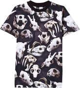 Molo Black Ralphie Animal Skulls Print Tee