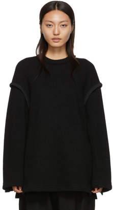 Yohji Yamamoto Regulation Black Open Side Sweater