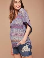 Motherhood Maternity Secret Fit Belly Crochet Detail Maternity Shorts