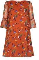 Yumi Bird Print Tunic Dress