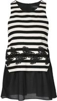 Thakoon layered striped tank - women - Silk/Cotton/Polyester - 0