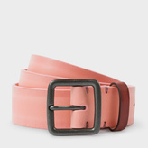 Paul Smith Men's Pink Burnished Leather Belt