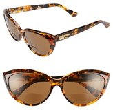 Corinne McCormack Women's 'Anita' 59Mm Cat Eye Reading Sunglasses - Amber Tortoise