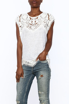 Generation Love White Scalloped Lace Top
