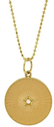 Andrea Fohrman Nude French Enamel Full Moon/New Moon Yellow Gold Necklace