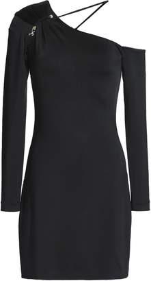 Cushnie Sasha One-shoulder Ruched Satin-jersey Mini Dress