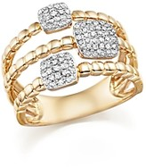 Bloomingdale's Diamond Pave Triple Row Beaded Band in 14K Yellow Gold, .25 ct. t.w.