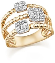 Bloomingdale's Diamond Pave Triple Row Beaded Band in 14K Yellow Gold, 0.25 ct. t.w.