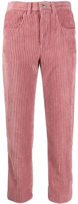 Etoile Isabel Marant Cropped Corduroy Trousers