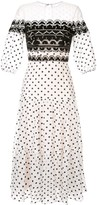 Temperley London polka dot midi dress
