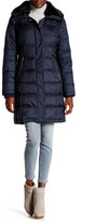 Cole Haan Faux Fur Trimmed Quilted Down Coat