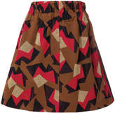 Marni geometric pattern mini skirt