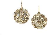 Tresor Collection - Diamond Slice Web Earrings in 18k Yellow Gold