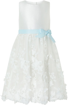 Monsoon Butterfly Mesh Occasion Dress Ivory