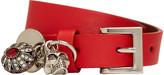Alexander McQueen Red Fly Double-Wrap Bracelet