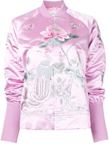 MS MIN floral embroidery bomber jacket