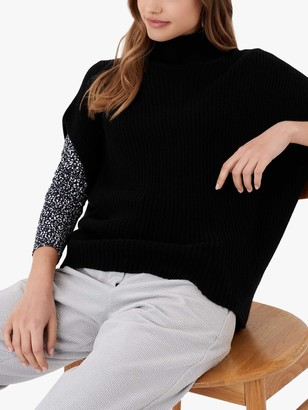 Brora Cashmere Ribbed Poncho