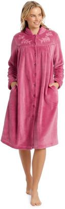 Harper & Grace Compton Gardens Woven Fleece Mid-Length Robe Dusty