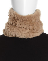 Neiman Marcus Rabbit-Fur Neck Warmer, Creme Brulee