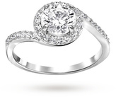 Swarovski Attract Light Swirl Ring - Ring Size P.5