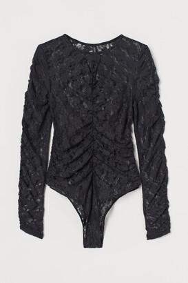 H&M Draped Lace Bodysuit