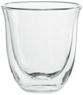 De'Longhi Delonghi Six-Piece Double Wall Cappuccino Glass Set
