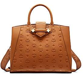MCM Women's Essential Monogrammed Leather Top Handle Bag