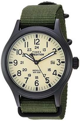 Timex Men's TW4B15500 Expedition Scout 40mm Nylon Slip-Thru Strap Watch