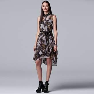 Vera Wang Petite Simply Vera Print Shirt Dress