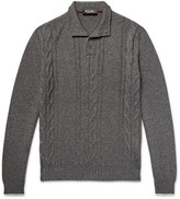 Loro Piana Cable-knit Cashmere And Silk-blend Sweater