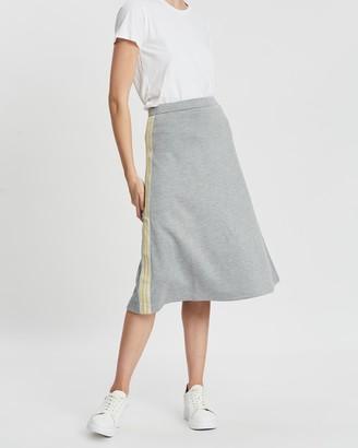 Être Cécile Rainbow Rib A-line Midi Skirt