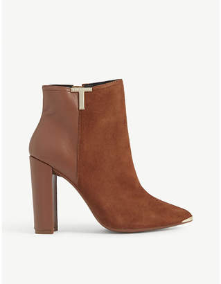Ted Baker Inala suede and leather ankle boots
